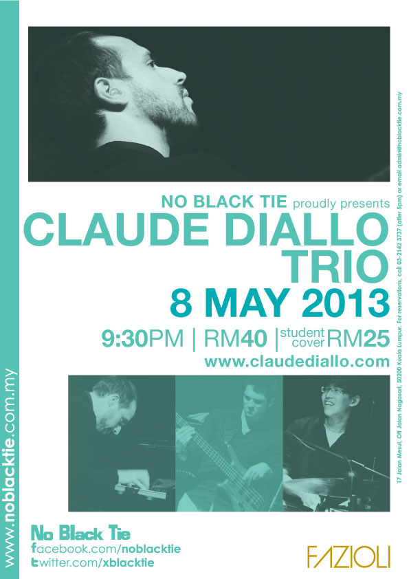 Claude Diallo Trio May 8 NBT