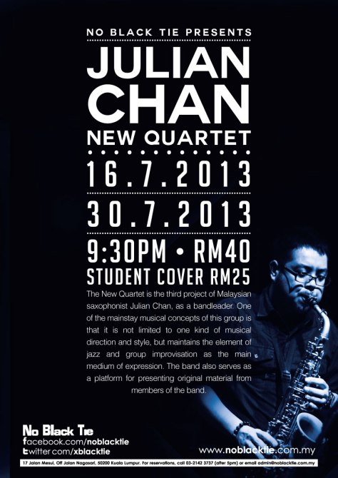 Julian Chan New Quartet July 16-30 NBT